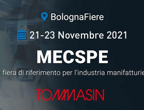 Tommasinutensili@Mecspe 2021 – dal 21 al 23 Novembre